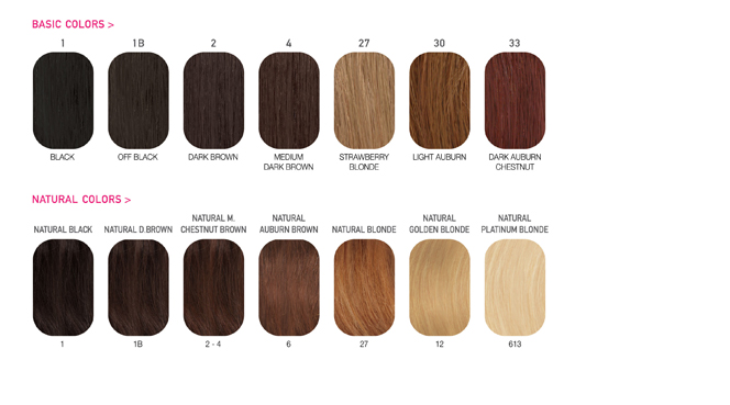 Color Chart – Hair Color Chart