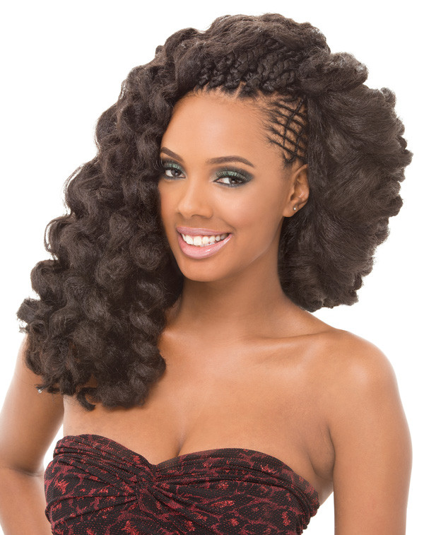 Hairstyles Using Noir Afro Twist Braid Royal Silk Afro